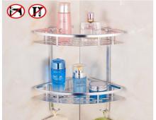 浴室置物架吸盘式双层