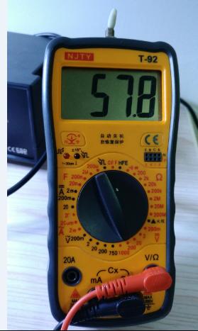 电压调到58V,还可以上调,但是AZ431受不了