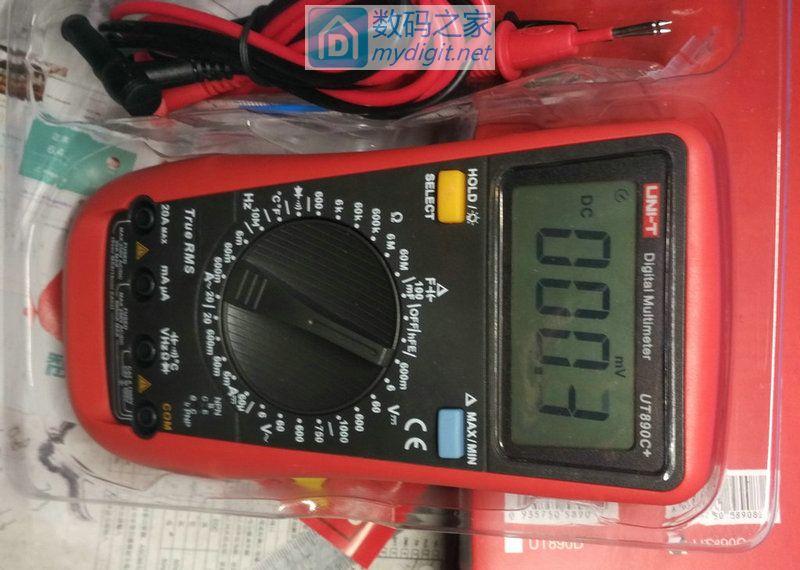 优利德UT890C真有效值万用表拆机,6000字显示改9999字显示