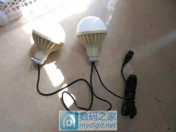 帮淘宝客户改制二个低压灯泡