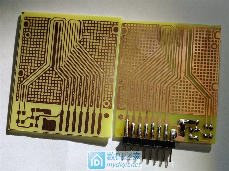 【狙沙】 A4复印纸+感光干膜+普通LED 制作PCB