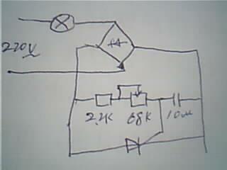 单向晶闸管调温电路