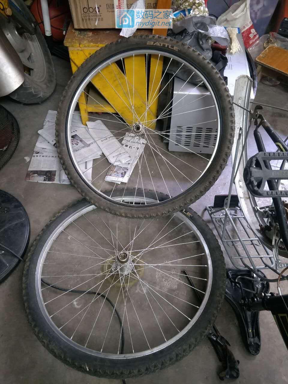 为一台变速自行车换车轴