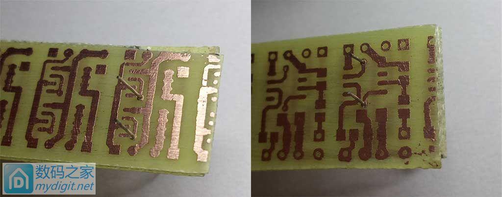 第一次尝试做热转印PCB,还算成功。