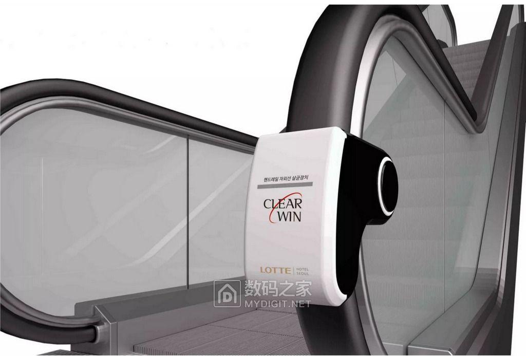 洁癖党救命神器 LG Innotek首推UV LED手扶电梯杀菌机