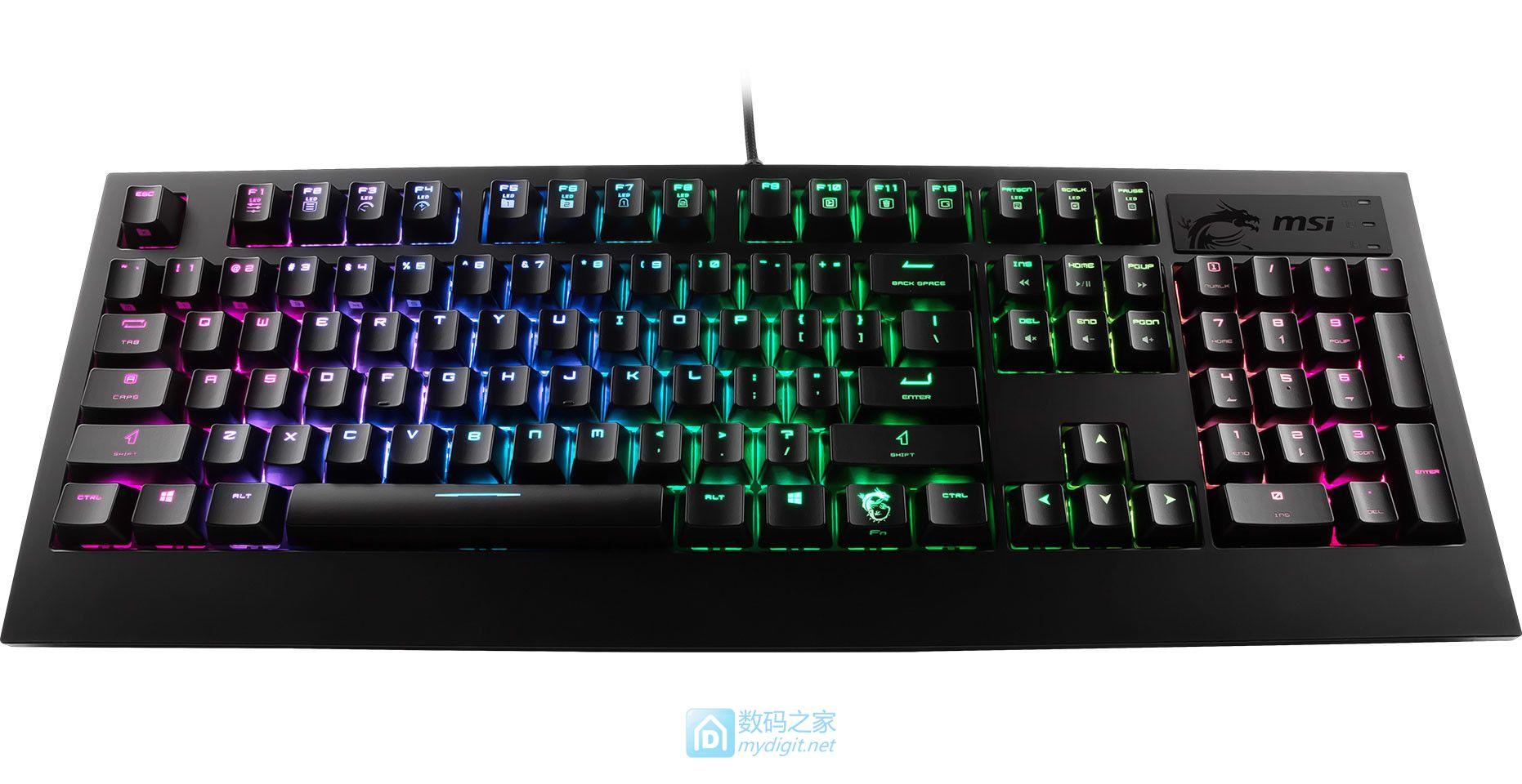 """经典板卡厂又一重磅跨界""""炸弹"""" 微星发布GK-701 RGB机械键盘"""