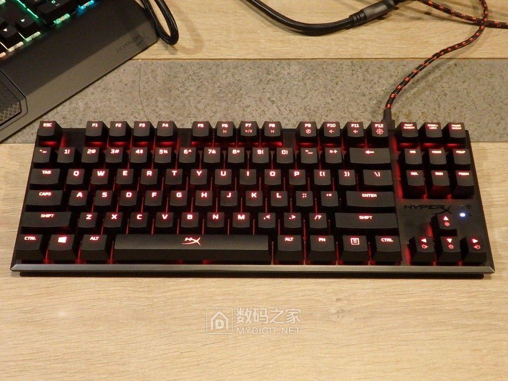 粗暴简约风 金士顿87键电竞键盘HyperX Alloy FPS Pro