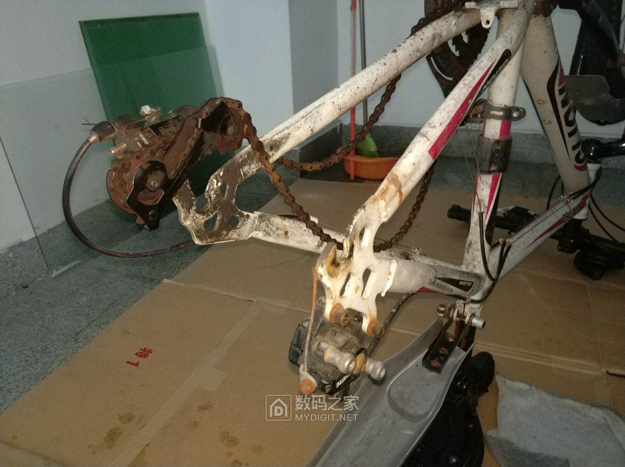 人生中的第一次,拆换一辆26寸山地自行车内外轮胎
