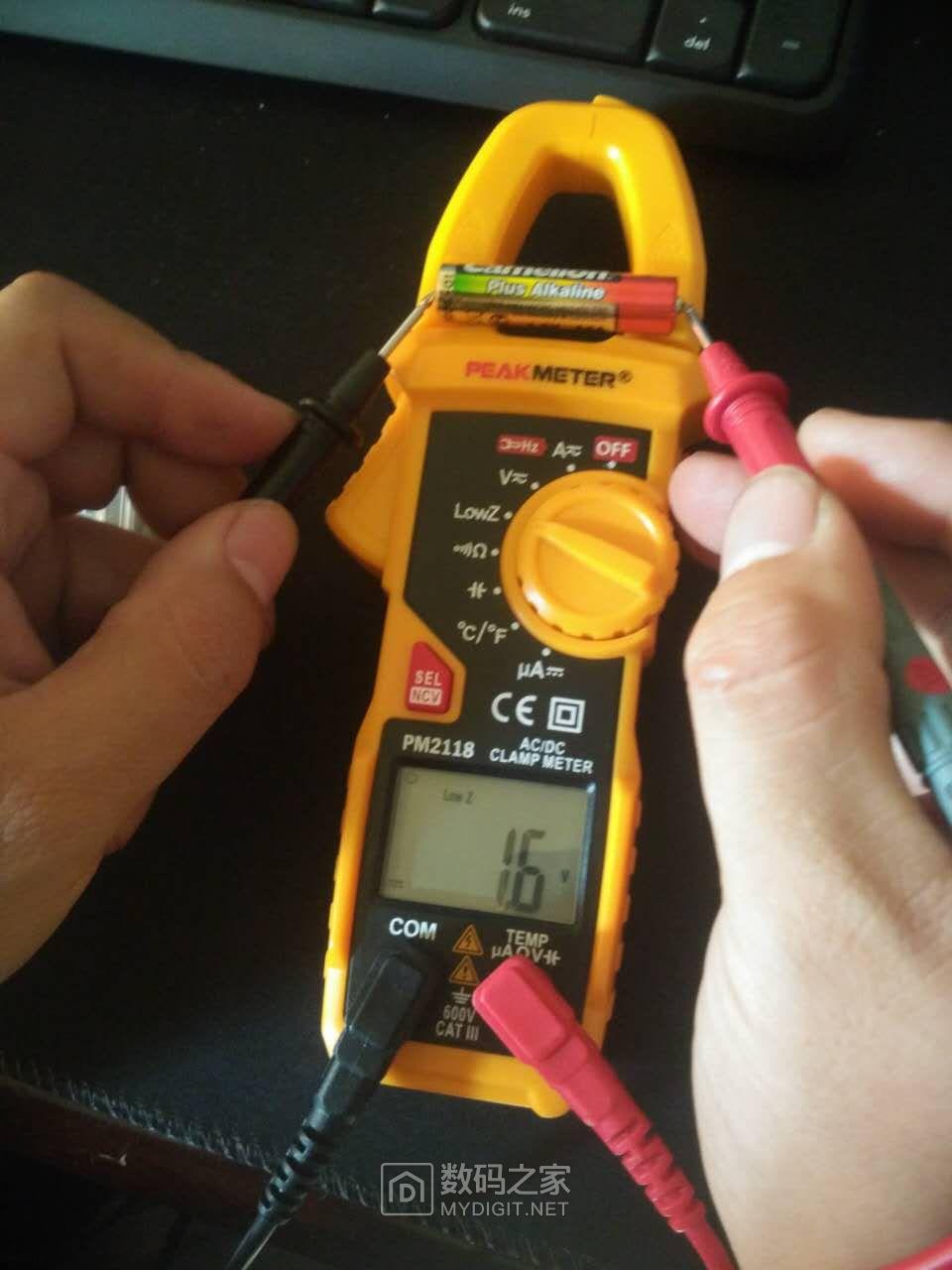 电池正测1.6v