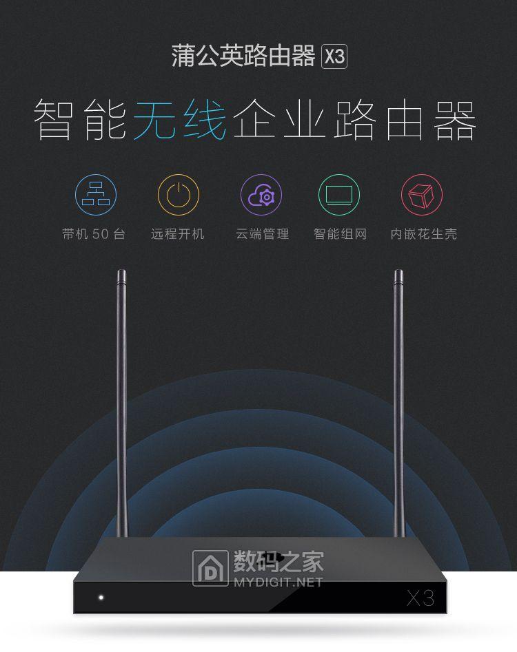 组建异地虚拟局域网,花生壳出品蒲公英X3组网路由器2台298元