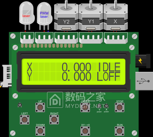 都在玩脱机,我也发一块激光雕刻机的脱机控制板