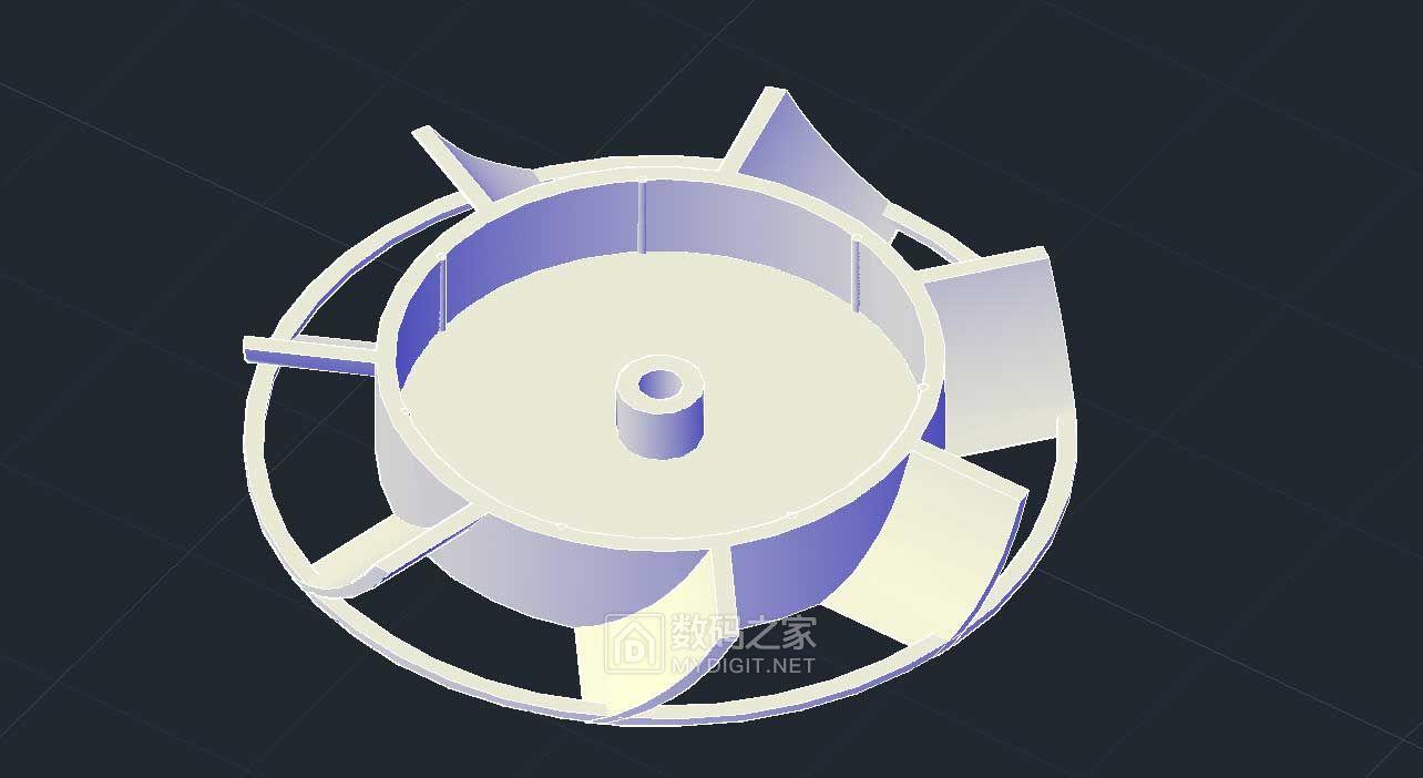 3D打印机自我修复------打印散热风扇叶片。