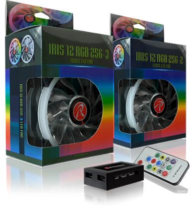 每天看两眼心情爽爽哒 Raijintek Iris 12 Rainbow RGB机箱风扇