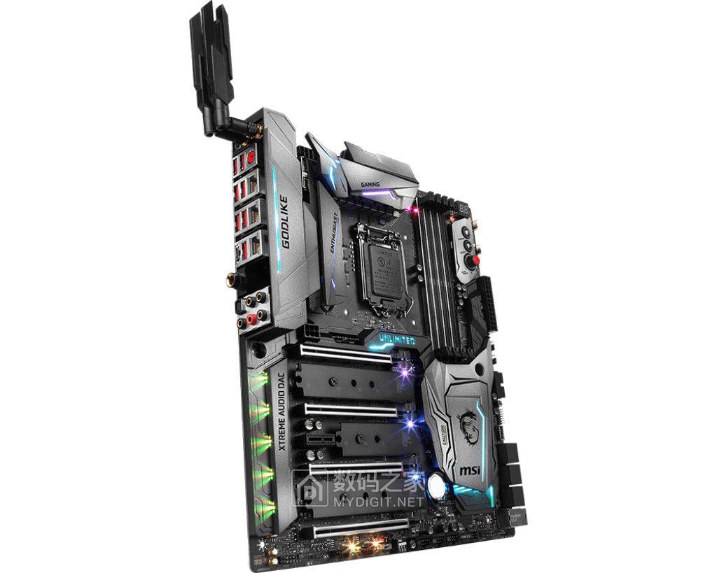 板载无线AP+威马发烧电容 微星正式发布超神主板Z370 GODLIKE GAMING