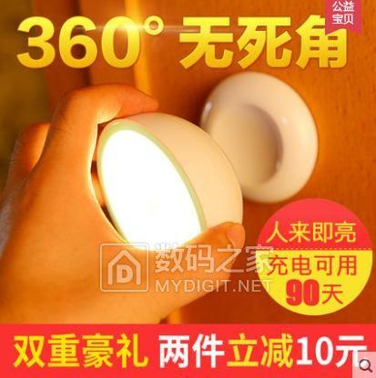 LED人体感应灯,特价18
