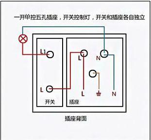 2种不同接线方法电路图 86型 二三插五孔带一开单控开关 插座面板 图片