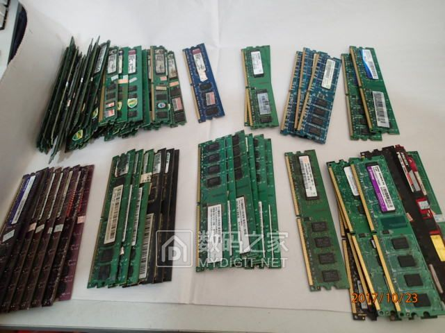 拆机200多条DDR2内存2G