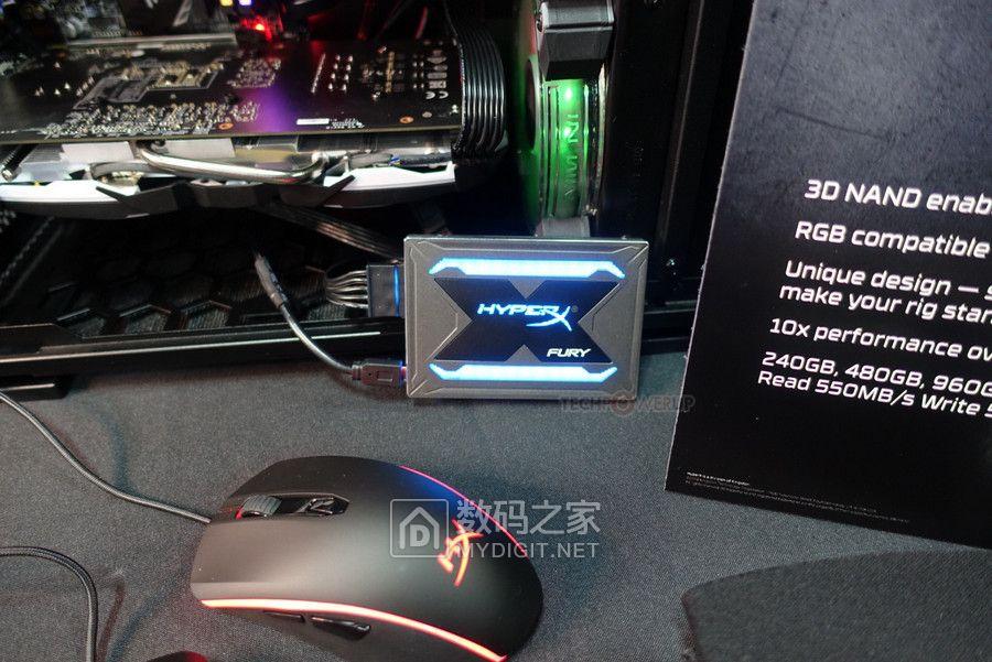 加倍诠释时尚美学 金士顿炫幻光彩HyperX Fury RGB固态硬盘