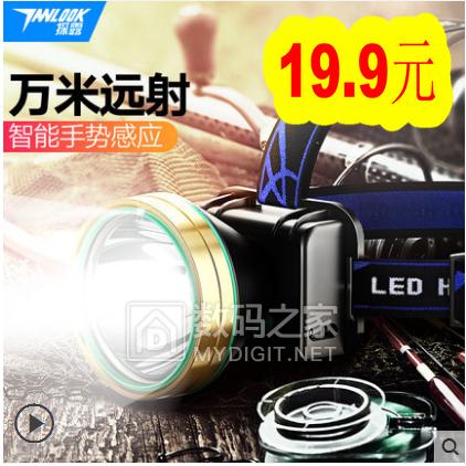 LED强光远射3000米头灯