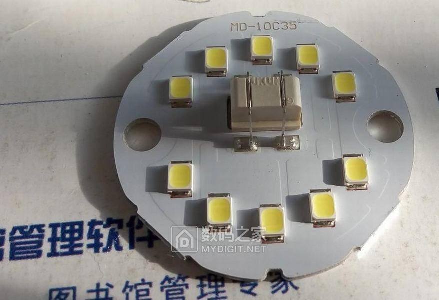 无损拆解!美的旗舰店 LED球泡 E27大螺口 5700K正白 铝基板 接插件恒流IC驱动