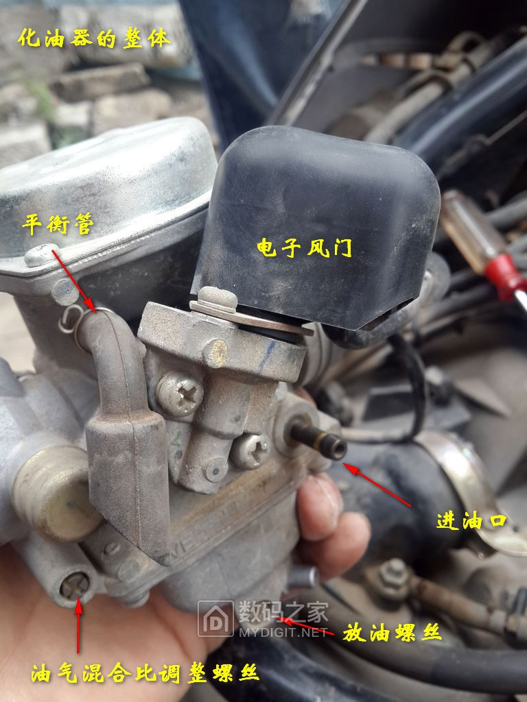 拆洗本田佳颖125踏板摩托车化油器