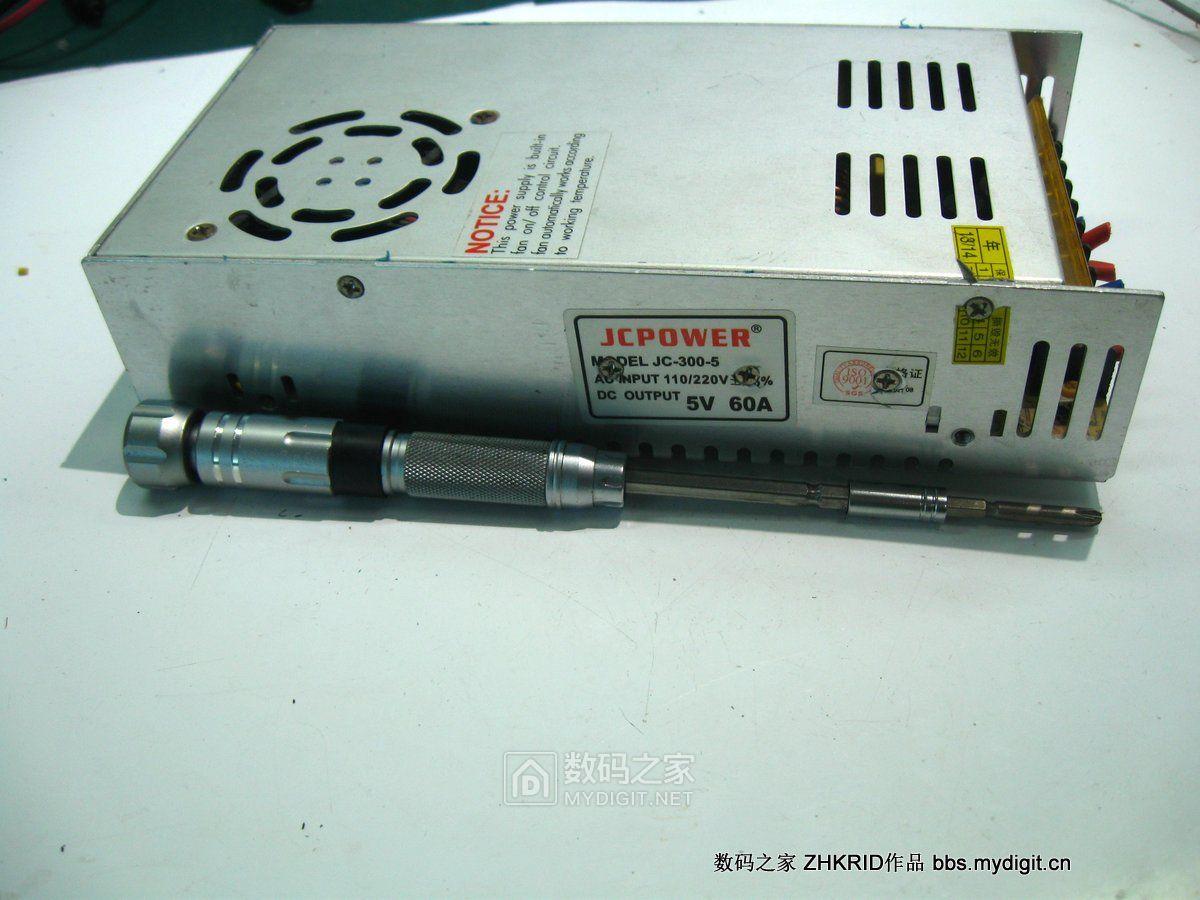 JCPOWER 5V/60A开关电源爆改0~30V/0.5~10A可调电源