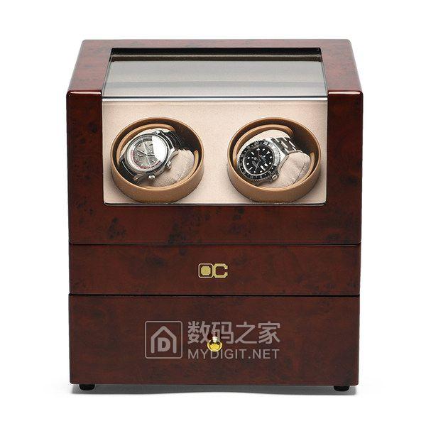 OC开合新品机械表摇表器转表器晃表器木质自动上链表盒表盒收纳盒