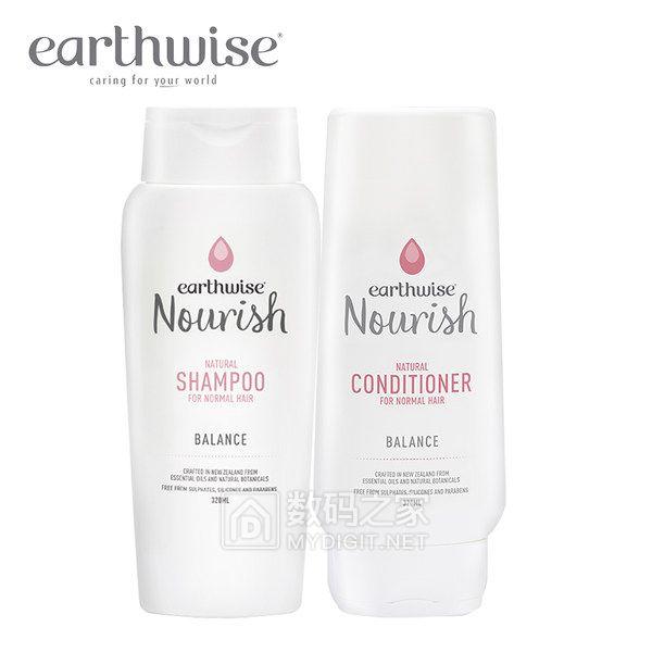 earthwise 均衡型洗发护发组合 一般发质无硅油洗发露孕妇可用