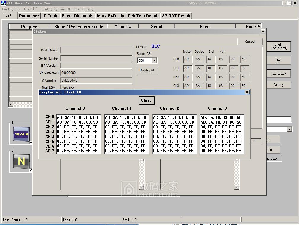 金泰克 S300 开卡,闪存数据找不到,求指教。