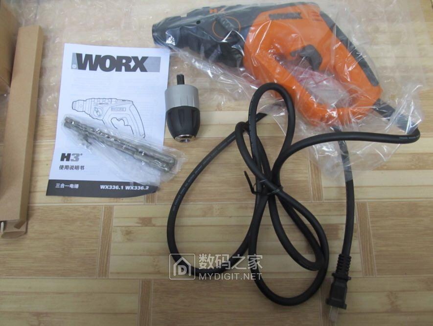 论坛代购的威克士WX336.1两用电锤开箱