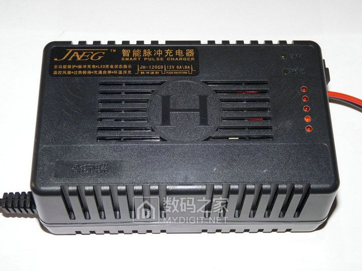 东莞佳恒电子出品——带5位电量指示的12V8A汽车电瓶脉冲充电器最低仅售 65 元