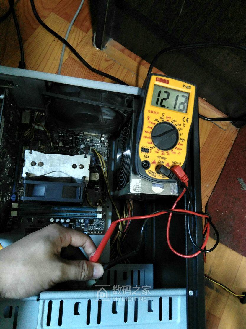 【已解决】华硕主板12v pc电源12v怎么测量才是正确的?