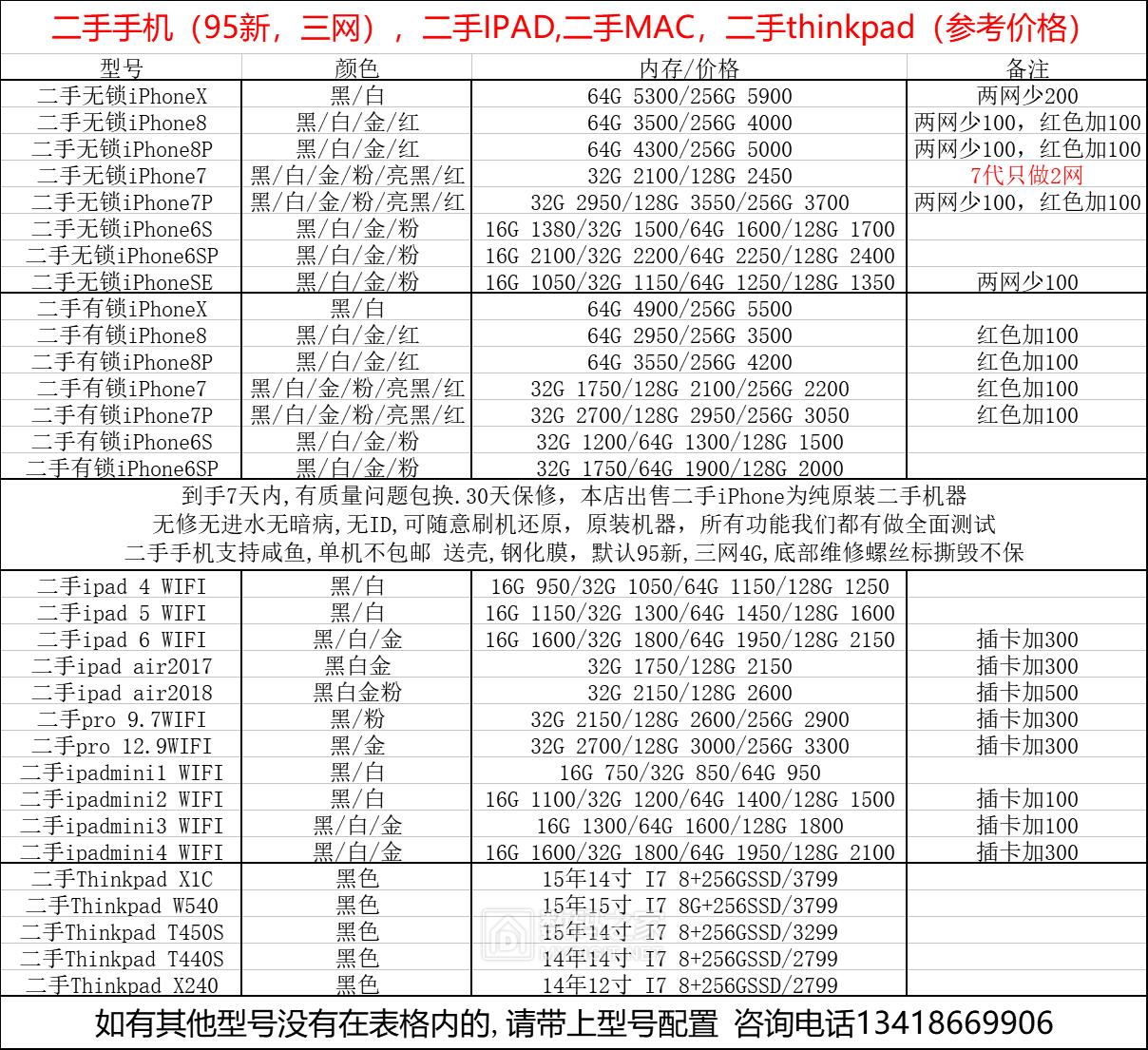 非凡数码,原装二手机iPhoneX,8,8P,7,7P,6s,6SP 原装二手笔记本MACThinkPad