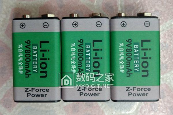 万用表9V可充电锂电池6