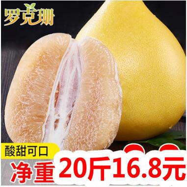 蜜柚20斤16.8!红心柚