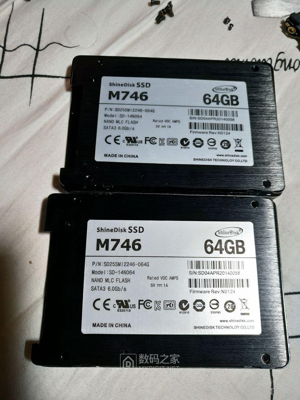 两个让人无语的64G云储M746固态
