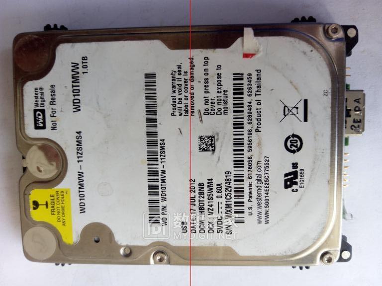西数1T 2.5寸移动硬盘