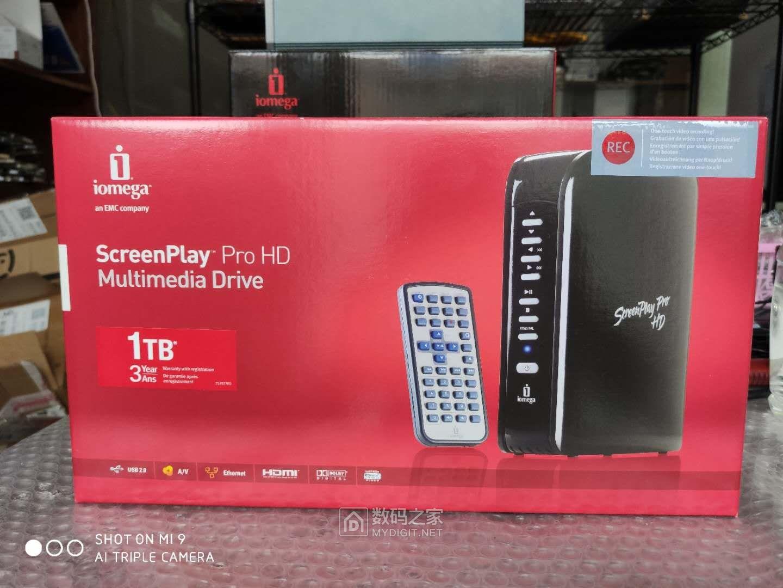 全新原封艾美加iomega ix2双盘位小NAS和ScreenPlay Pro HD高清播放器