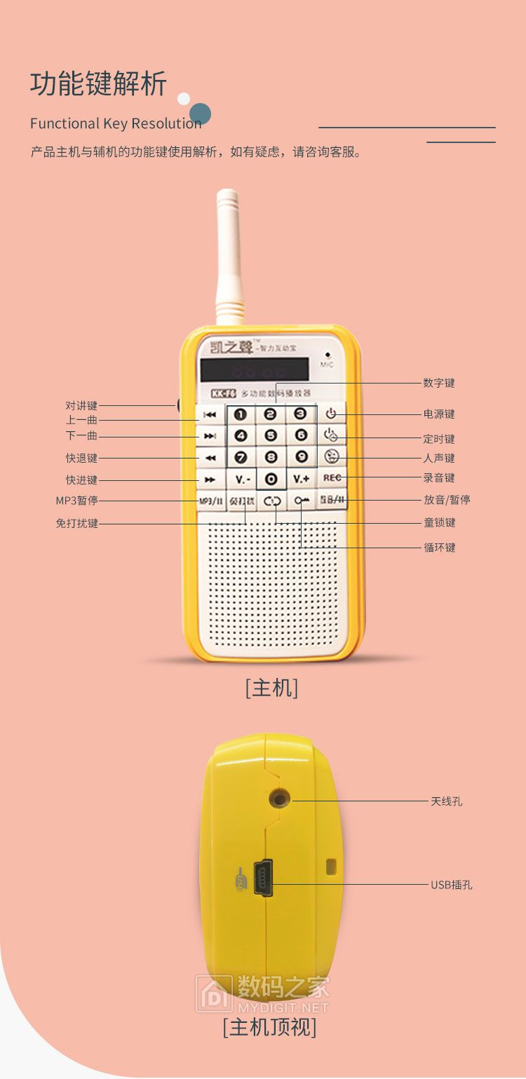 第二波!看好评:对讲机9.9元起品牌MP3播放器音箱多功能精品宝贝!限时活动,2台起拍
