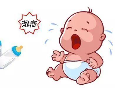 宝宝长湿疹很难受   杏