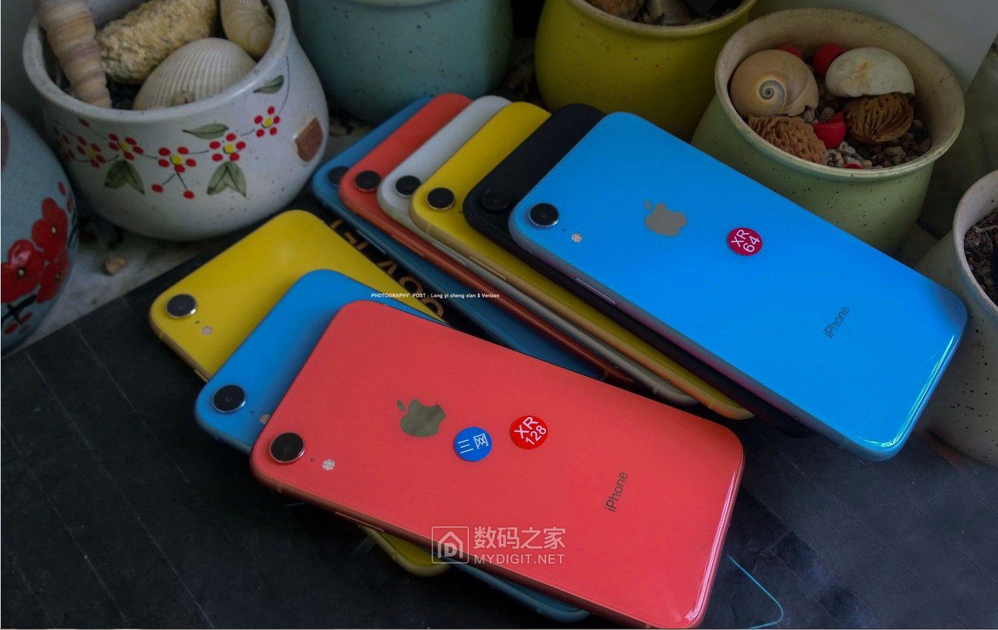 大量高清图,到货各种颜色苹果XR双卡双待三网4g 九五新 64g 3080元,128g 3350元