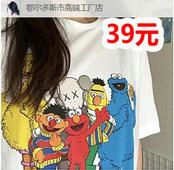 芝麻街潮流T恤39!全自