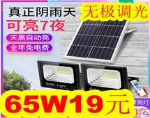 太阳能灯65W19!12W灯